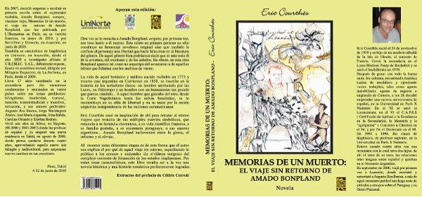 """""""""""MEMORIAS DE UN MUERTO, EL VIAJE SIN RETORNO DE AMADO BONPLAND"""", en la Sala Augusto Raúl Cortázar, de la B.N. de Buenos Aires, el lunes 09 de agosto de 2010"""""""